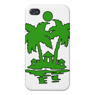 beach island houses green outline invert.png iPhone 4/4S covers