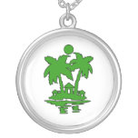 beach island houses green outline invert.png necklace