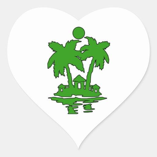 beach island houses green outline invert.png sticker