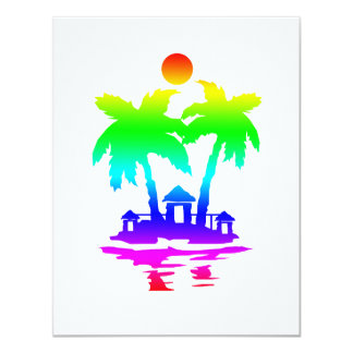 beach island houses rainbow invert.png 4.25x5.5 paper invitation card