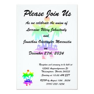 beach island houses rainbow invert.png 5x7 paper invitation card