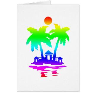 beach island houses rainbow invert.png card