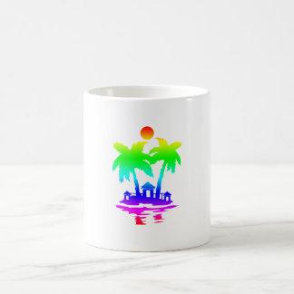 beach island houses rainbow invert.png mugs