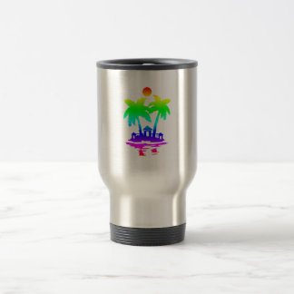 beach island houses rainbow invert.png coffee mug