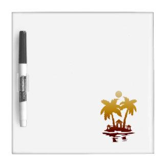 beach island houses sepia invert.png dry erase board