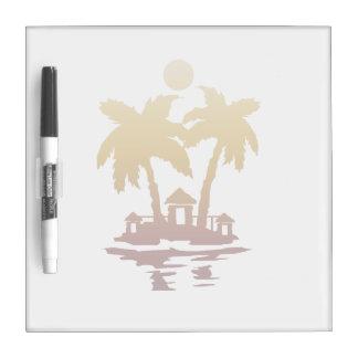 beach island houses sepia invert.png Dry-Erase board