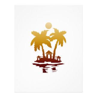 beach island houses sepia invert.png flyer