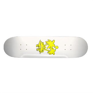 beach island houses yellow outline invert.png skateboard deck
