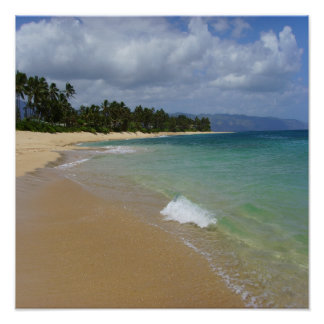Beach Island Poster