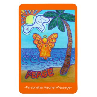 Beach Joy Angel Custom Art Personalized Magnets