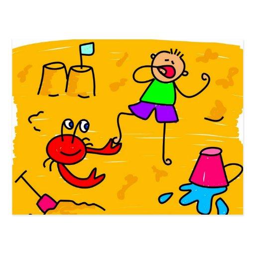 Beach Kid Postcard