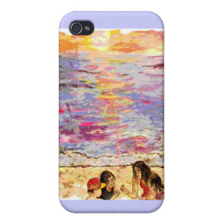 beach kids cover for iPhone 4