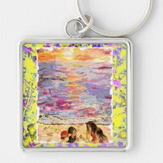 beach kids drip keychain