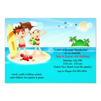 "Beach Kids Invitation 5"" X 7"" Invitation Card"