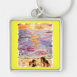 beach kids keychain