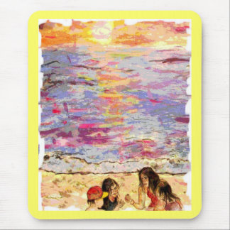 beach kids mouse pad