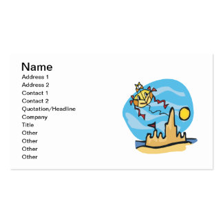 Beach Kite Double-Sided Standard Business Cards (Pack Of 100)