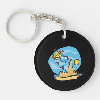 Beach Kite Keychain