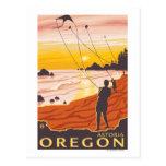 Beach & Kites - Astoria, Oregon Post Cards