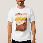 Beach & Kites - Astoria, Oregon T-Shirt