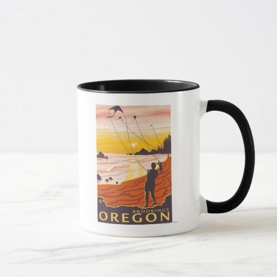 Beach & Kites - Brookings, Oregon Mug