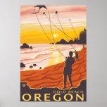 Beach & Kites - Gold Beach, Oregon Posters