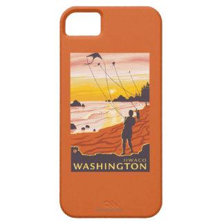 Beach & Kites - Ilwaco, Washington iPhone SE/5/5s Case