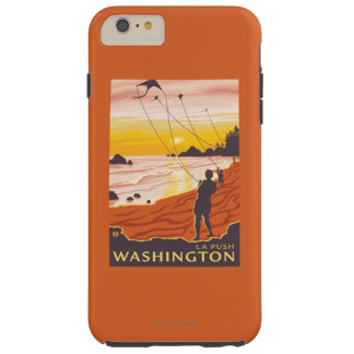 Beach & Kites - La Push, Washington Tough iPhone 6 Plus Case