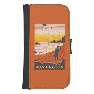Beach & Kites - La Push, Washington Galaxy S4 Wallet Case