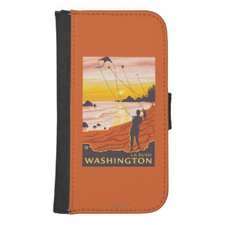 Beach & Kites - La Push, Washington Galaxy S4 Wallet Cases