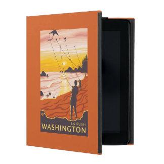 Beach & Kites - La Push, Washington iPad Folio Case