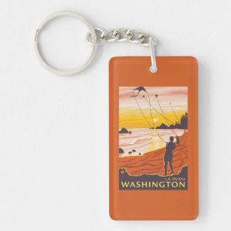 Beach & Kites - La Push, Washington Keychain