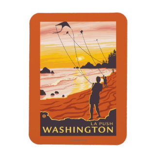 Beach & Kites - La Push, Washington Magnet