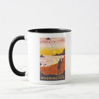 Beach & Kites - La Push, Washington Mug
