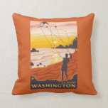 Beach & Kites - La Push, Washington Pillow