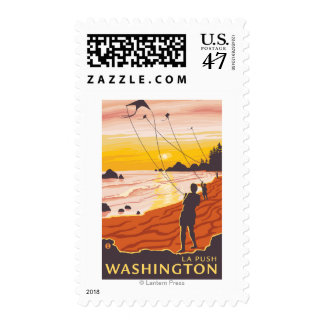 Beach & Kites - La Push, Washington Postage