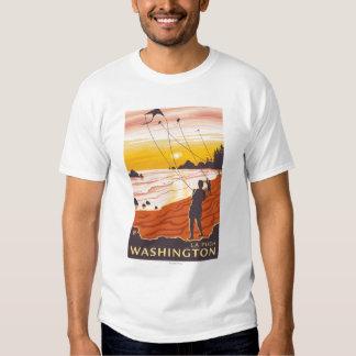 Beach & Kites - La Push, Washington Tee Shirt