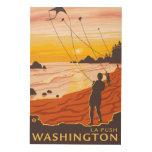 Beach & Kites - La Push, Washington Wood Wall Art