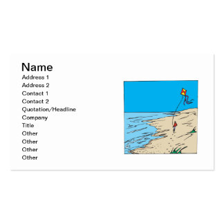 Beach Kiting Double-Sided Standard Business Cards (Pack Of 100)