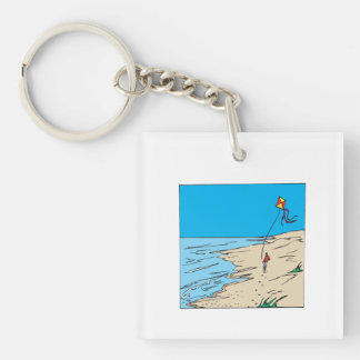Beach Kiting Keychain