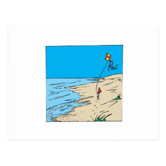 Beach Kiting Postcard