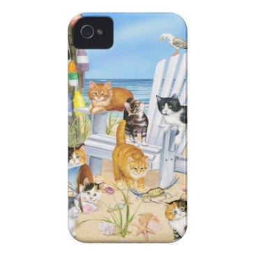 Beach Themed Beach Kittens iPhone 4/4S Tough Universal Case