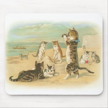 Beach Themed Beach Kittens Mouse Pad