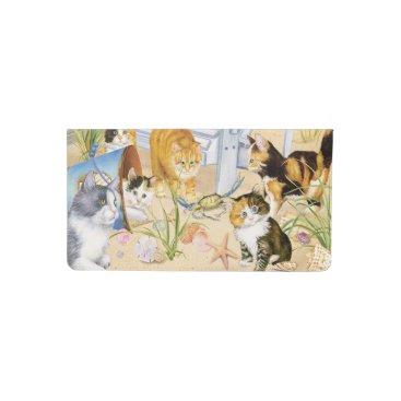 Beach Themed Beach Kitties Checkbook Cover