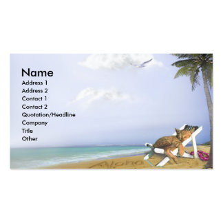Beach Kitty Double-Sided Standard Business Cards (Pack Of 100)