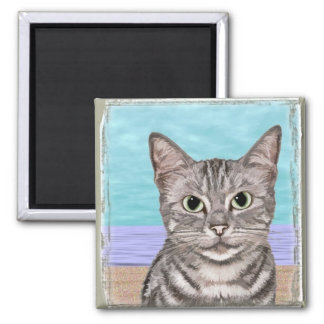 Beach Kitty Magnet