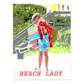 Beach Lady Animation Postcard