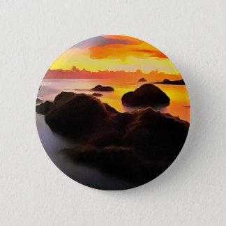 Beach Landscape at sunrise Pinback Button
