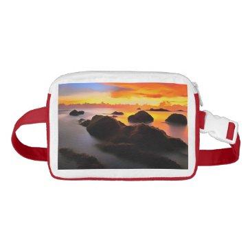 Beach Themed Beach Landscape at sunrise Waist Bag