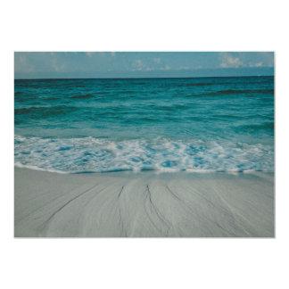 Beach landscape 5x7 paper invitation card